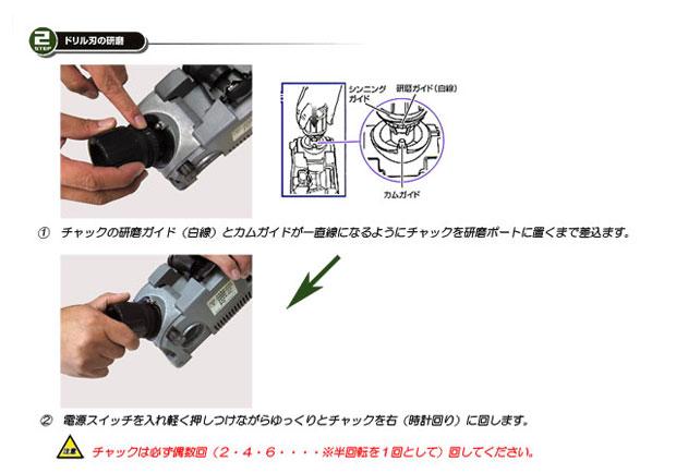 ドリルドクターのドリル刃の研磨